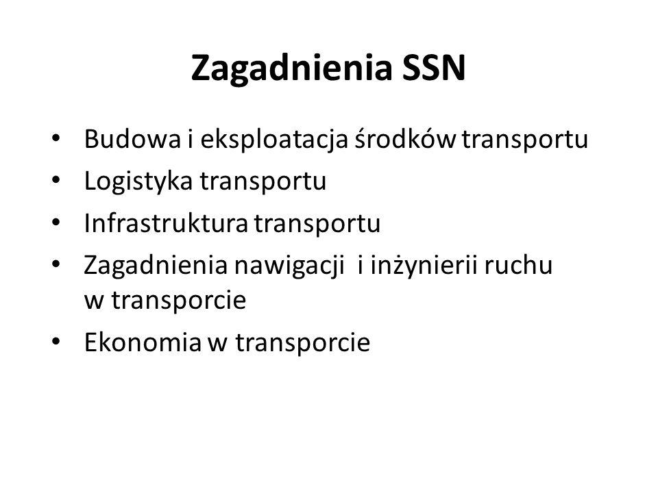 Zagadnienia SSN Budowa i eksploatacja środków transportu