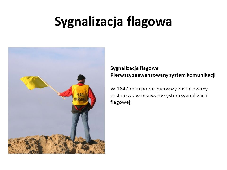Sygnalizacja flagowa Sygnalizacja flagowa