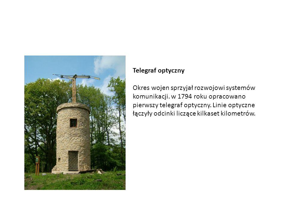 Telegraf optyczny Okres wojen sprzyjał rozwojowi systemów komunikacji