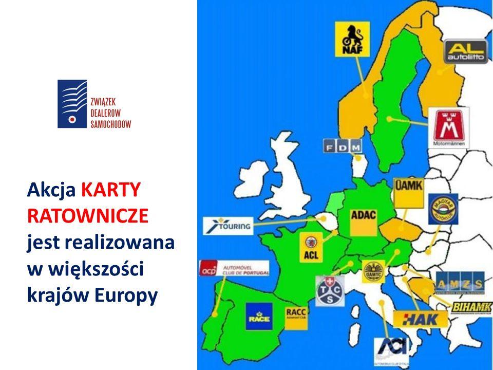 Akcja KARTY RATOWNICZE jest realizowana w większości krajów Europy
