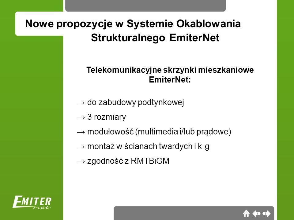 Telekomunikacyjne skrzynki mieszkaniowe EmiterNet: