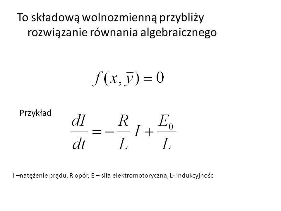 To składową wolnozmienną przybliży rozwiązanie równania algebraicznego