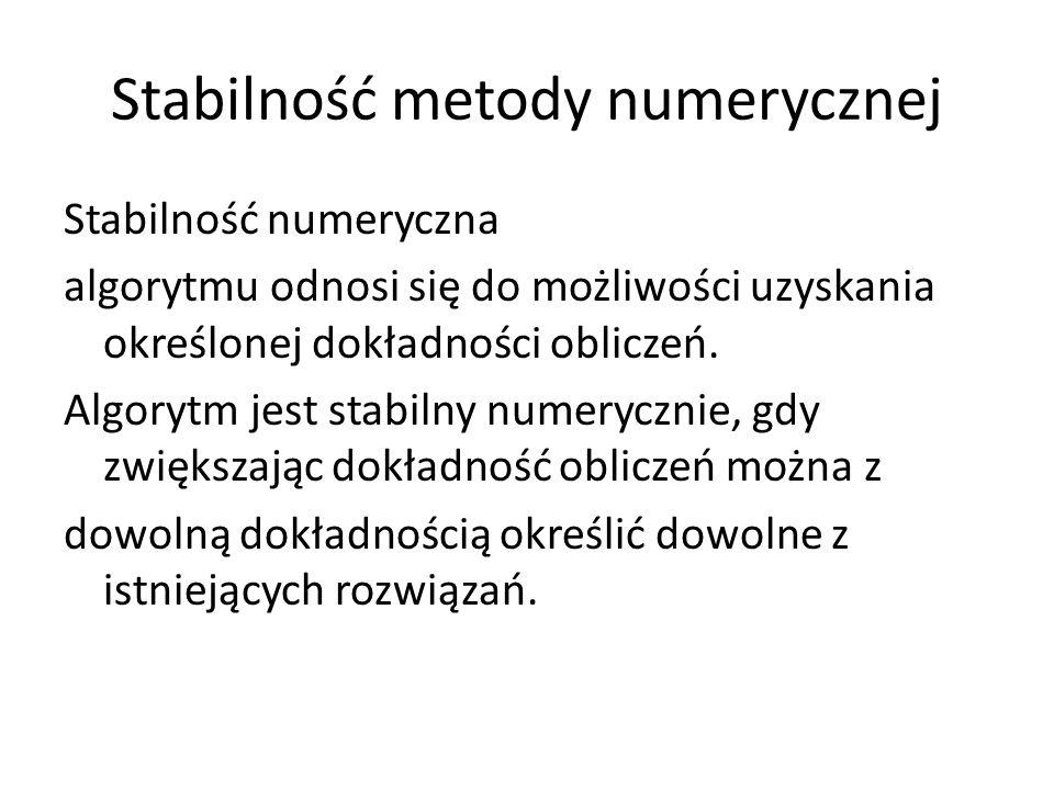 Stabilność metody numerycznej