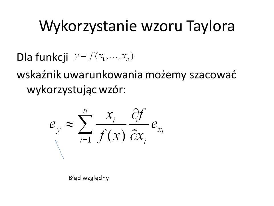 Wykorzystanie wzoru Taylora