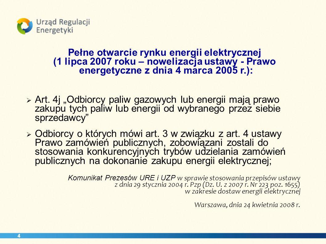 energetyczne z dnia 4 marca 2005 r.):