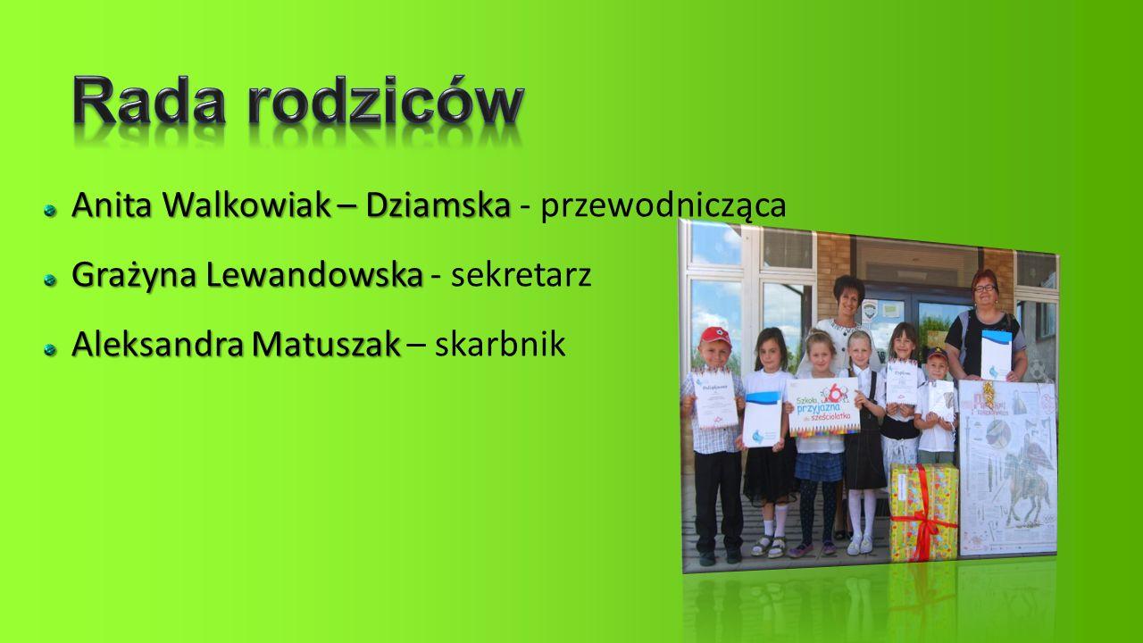 Rada rodziców Anita Walkowiak – Dziamska - przewodnicząca