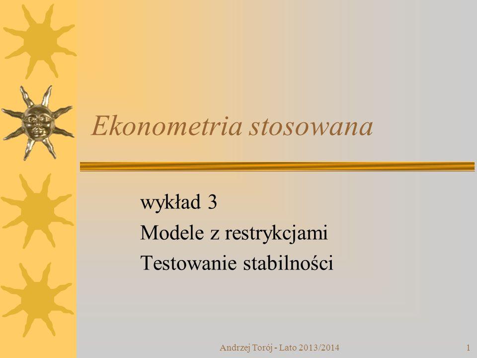 Ekonometria stosowana
