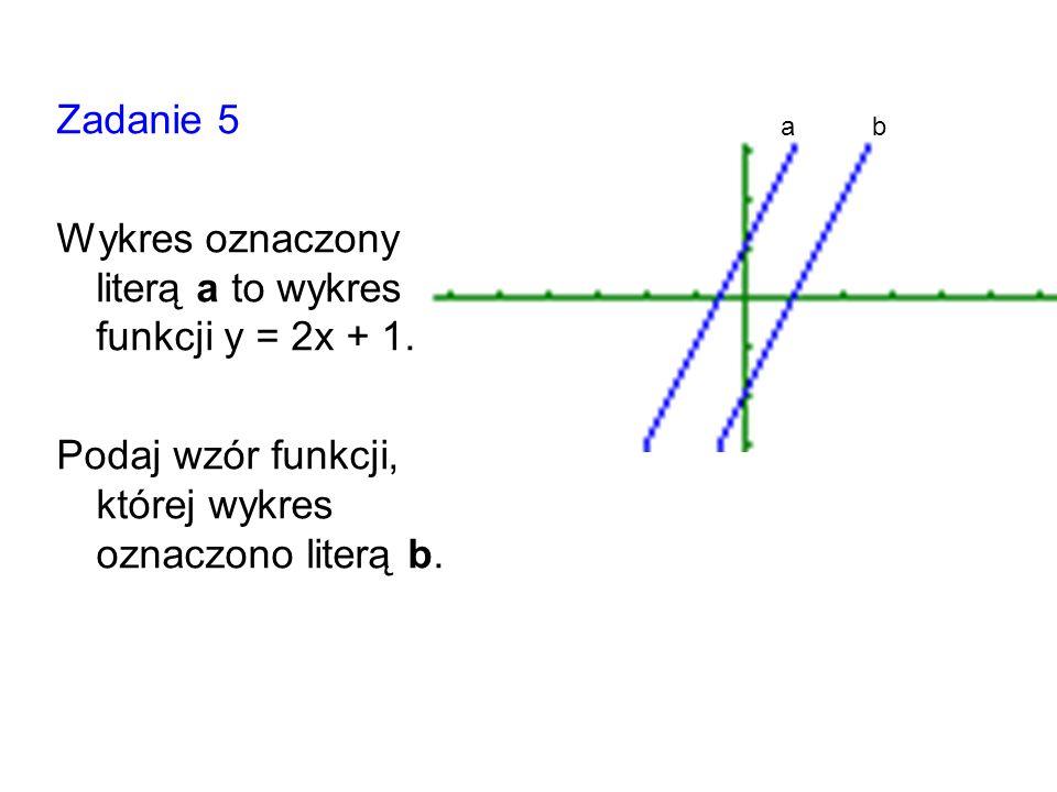 Wykres oznaczony literą a to wykres funkcji y = 2x + 1.
