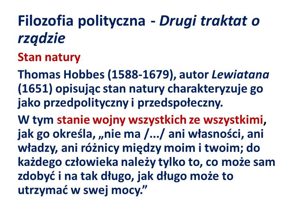 Filozofia polityczna - Drugi traktat o rządzie