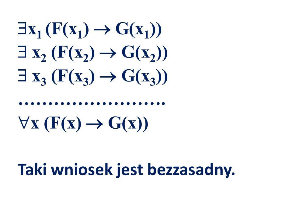 x1 (F(x1)  G(x1))  x2 (F(x2)  G(x2))  x3 (F(x3)  G(x3)) ……………………
