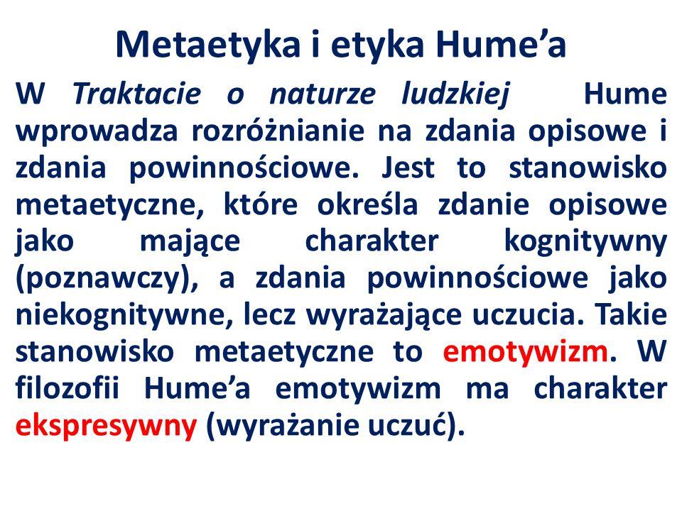 Metaetyka i etyka Hume'a
