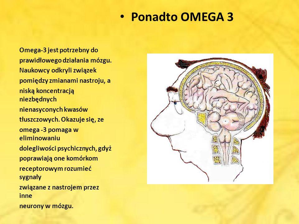 Ponadto OMEGA 3 Omega-3 jest potrzebny do