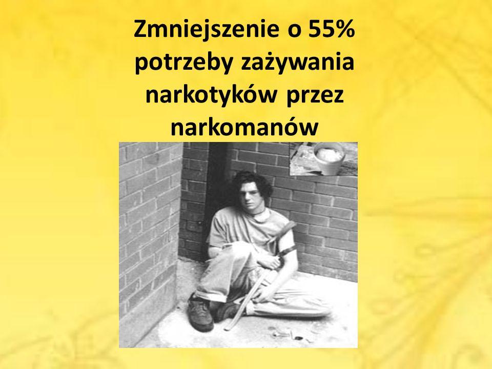 Zmniejszenie o 55% potrzeby zażywania narkotyków przez narkomanów