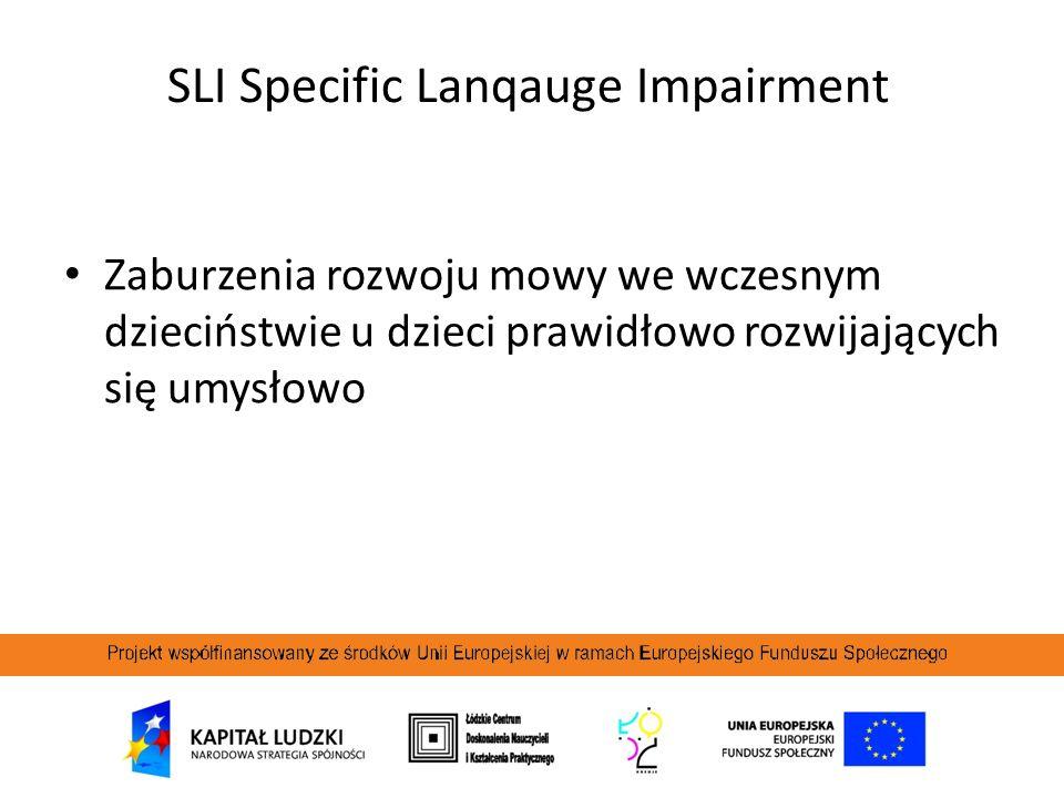SLI Specific Lanqauge Impairment