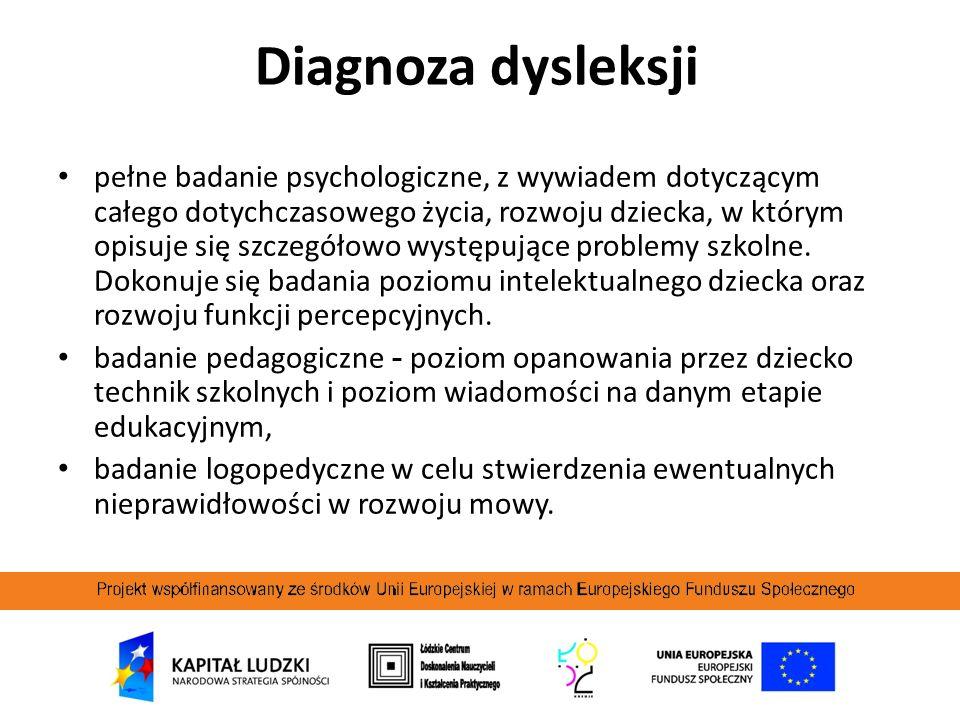 Diagnoza dysleksji