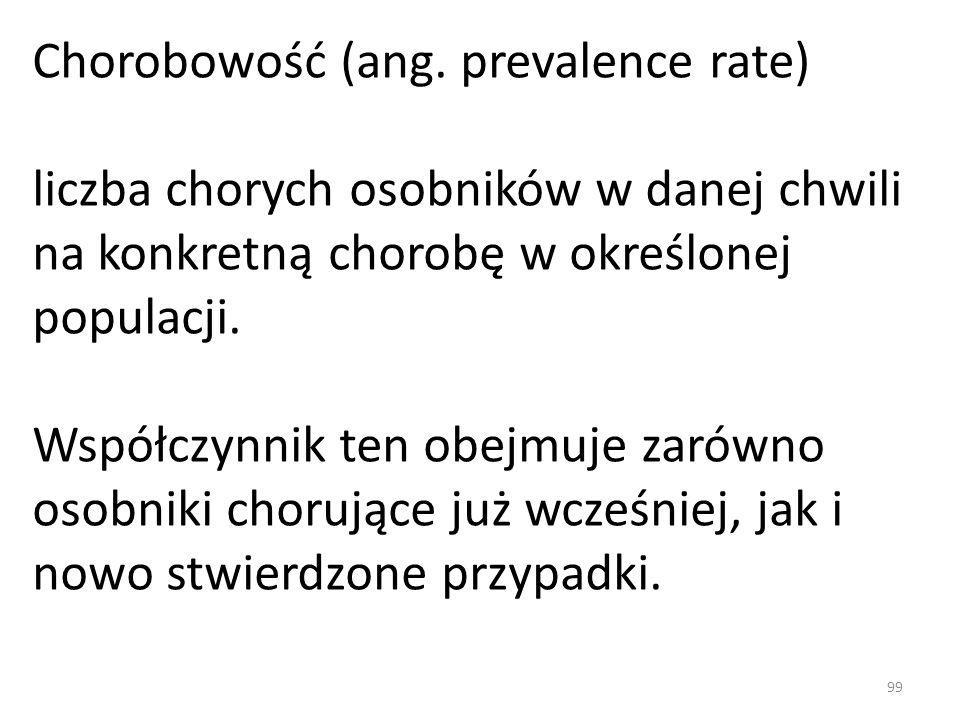 Chorobowość (ang. prevalence rate)