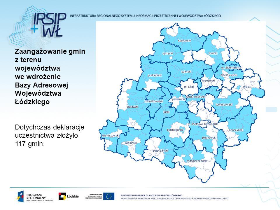 Zaangażowanie gmin z terenu województwa