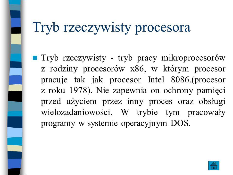Tryb rzeczywisty procesora
