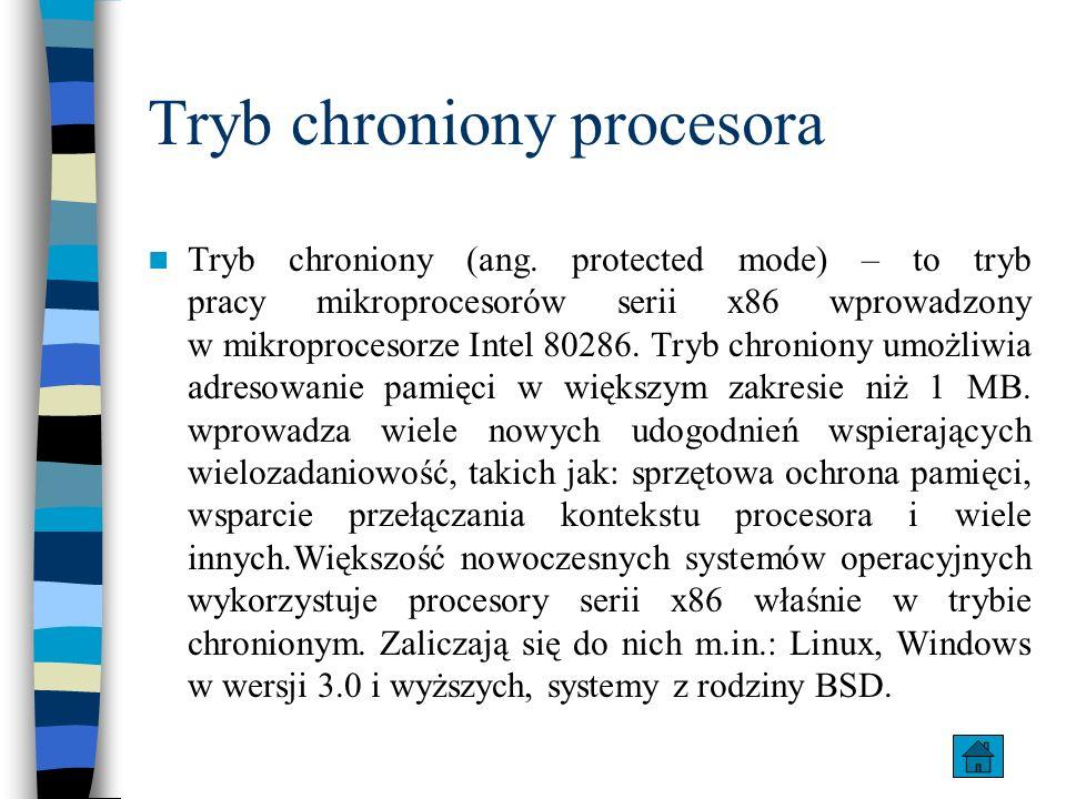 Tryb chroniony procesora