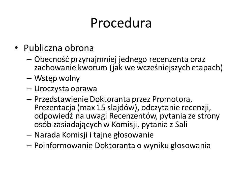 Procedura Publiczna obrona