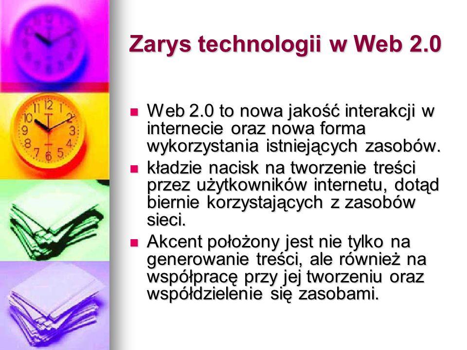 Zarys technologii w Web 2.0