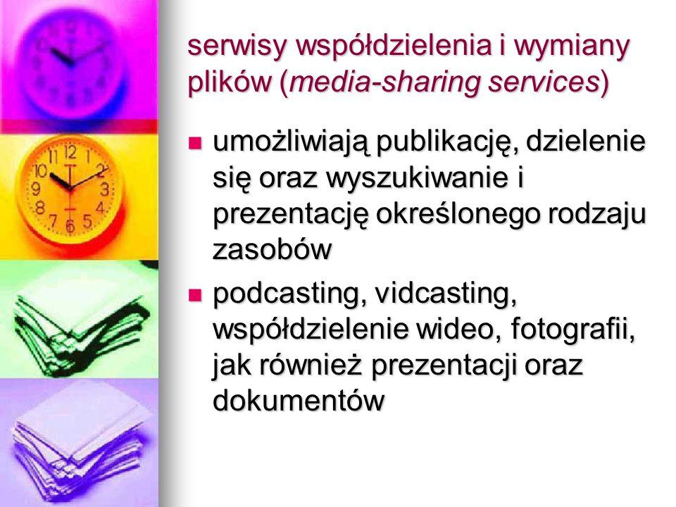 serwisy współdzielenia i wymiany plików (media-sharing services)