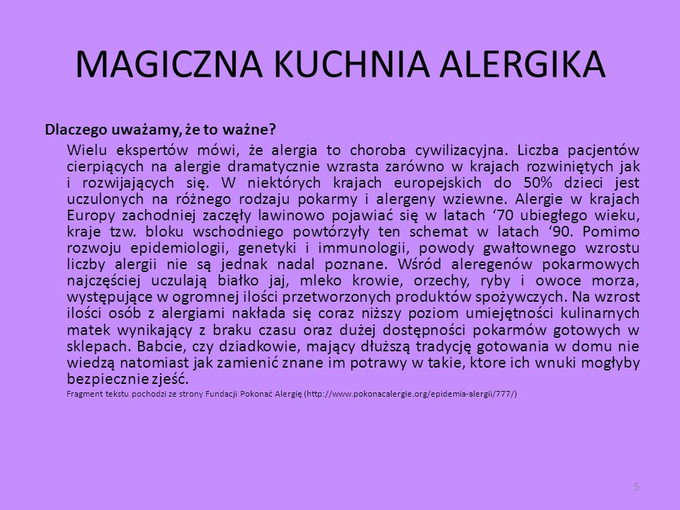 MAGICZNA KUCHNIA ALERGIKA