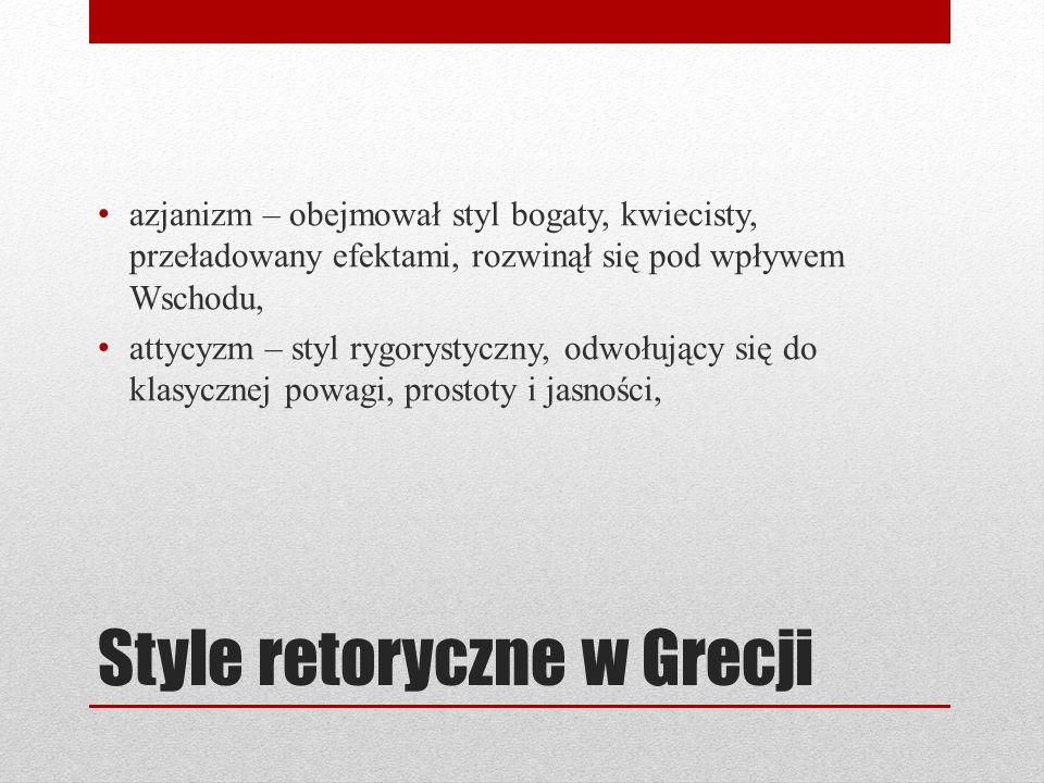 Style retoryczne w Grecji