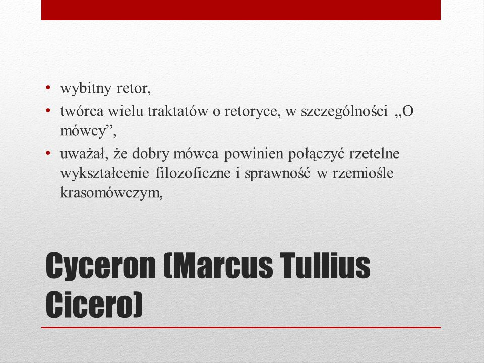 Cyceron (Marcus Tullius Cicero)