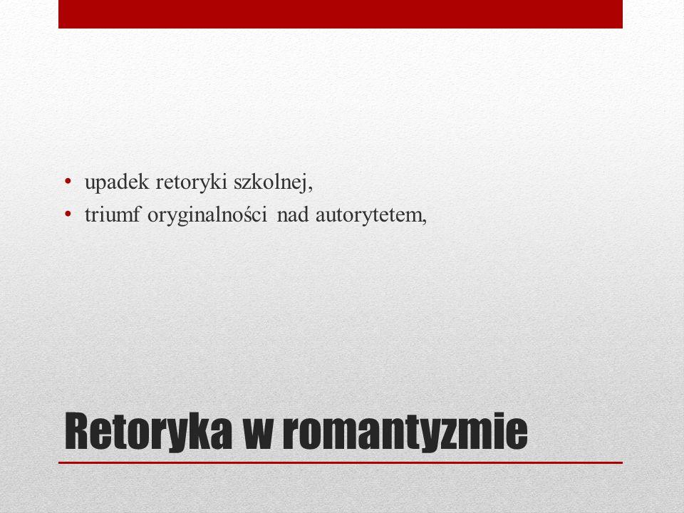 Retoryka w romantyzmie