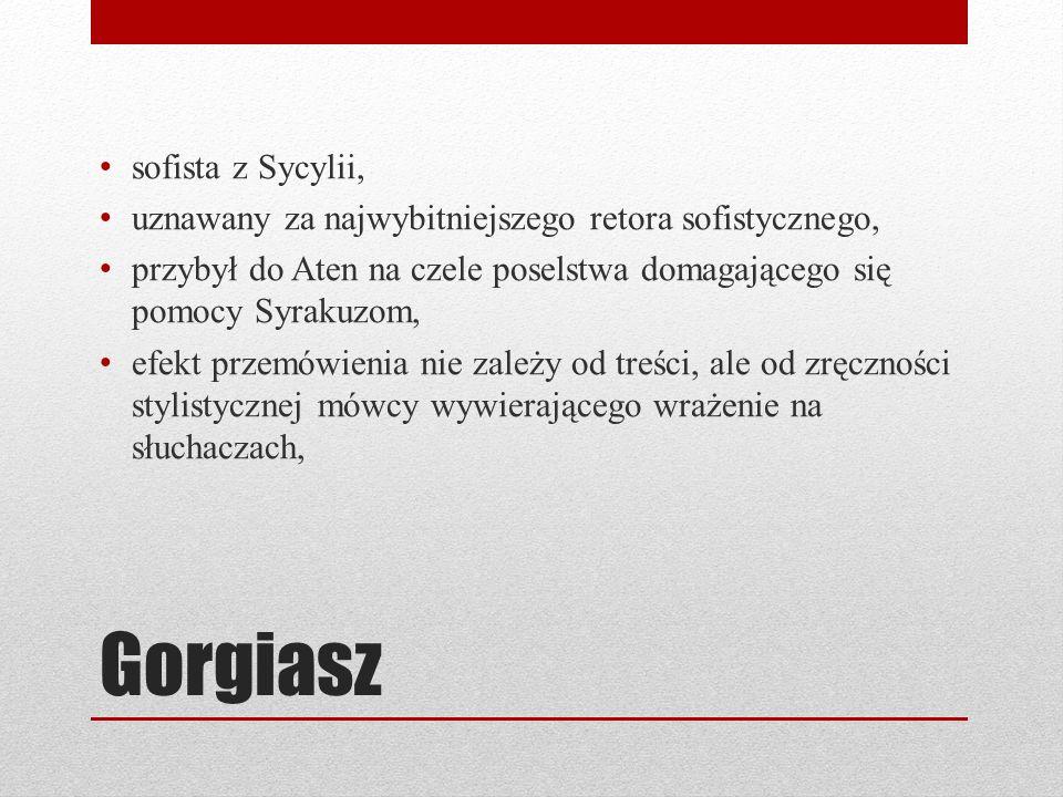 Gorgiasz sofista z Sycylii,