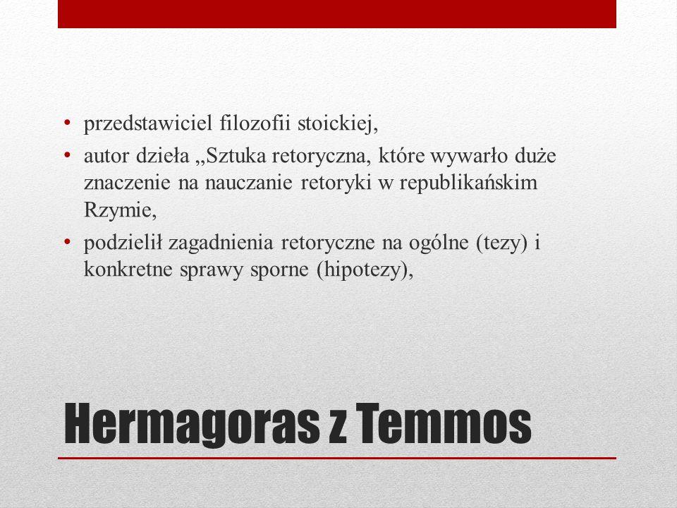 Hermagoras z Temmos przedstawiciel filozofii stoickiej,
