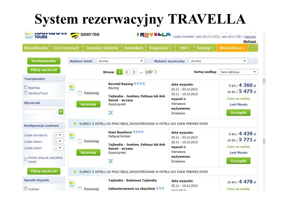 System rezerwacyjny TRAVELLA