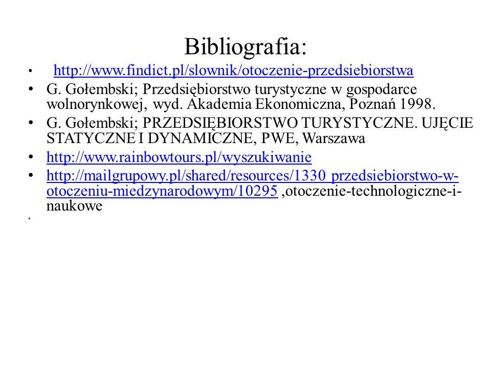Bibliografia: http://www.findict.pl/slownik/otoczenie-przedsiebiorstwa.