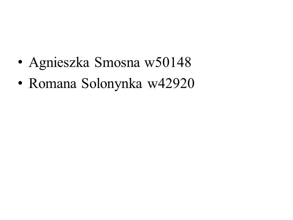 Agnieszka Smosna w50148 Romana Solonynka w42920