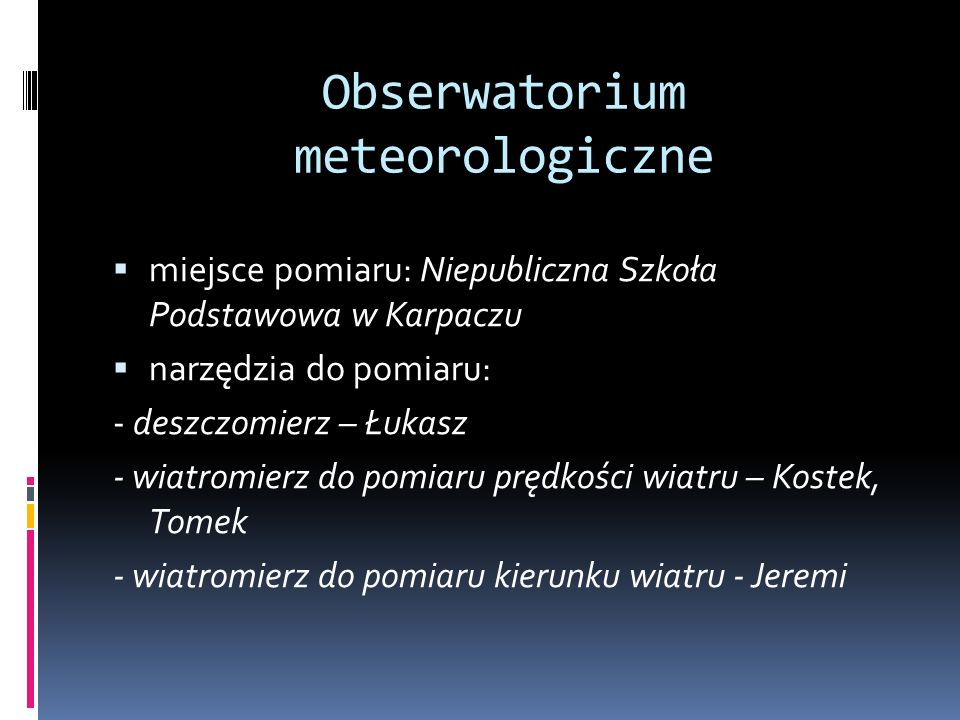 Obserwatorium meteorologiczne