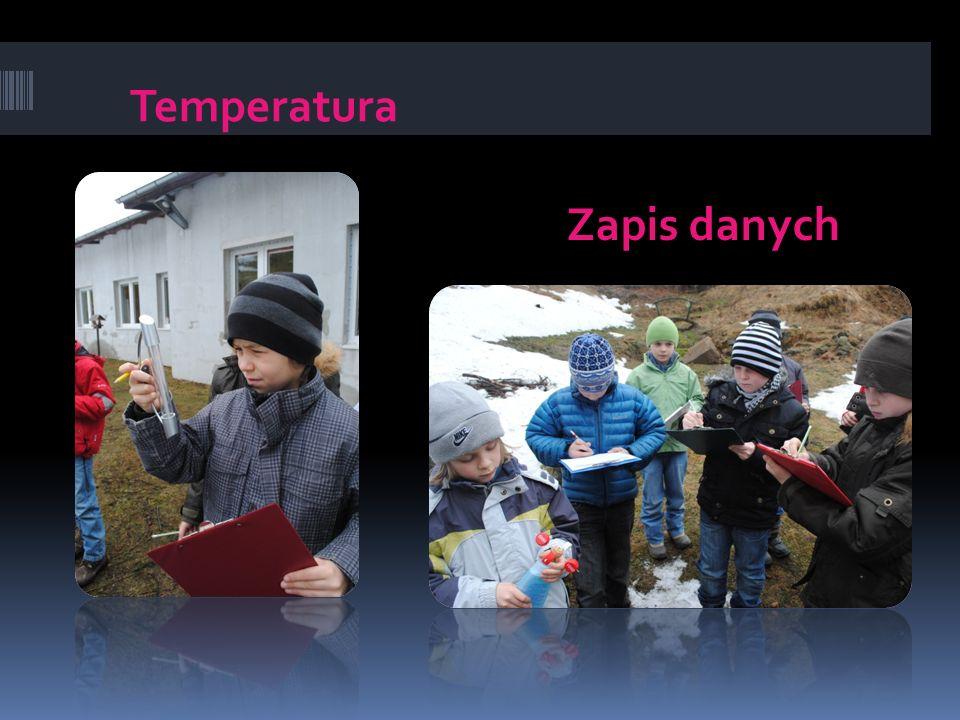 Temperatura Zapis danych