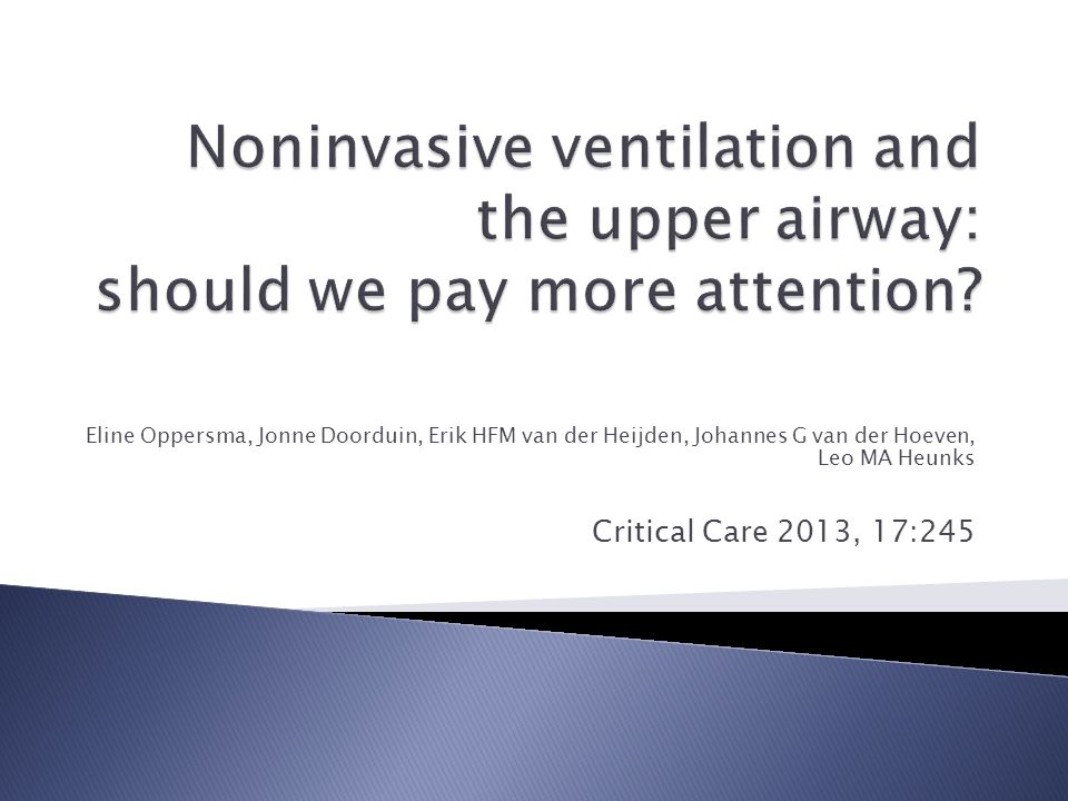 Noninvasive ventilation and the upper airway: should we pay more attention