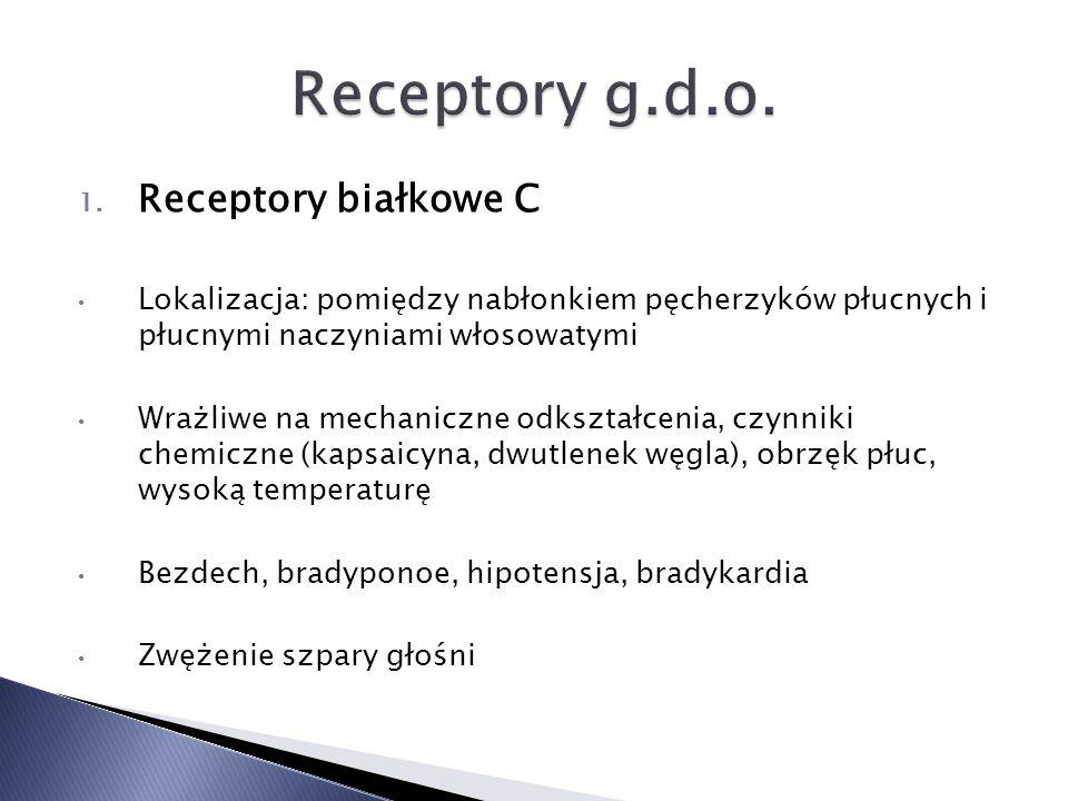 Receptory g.d.o. Receptory białkowe C