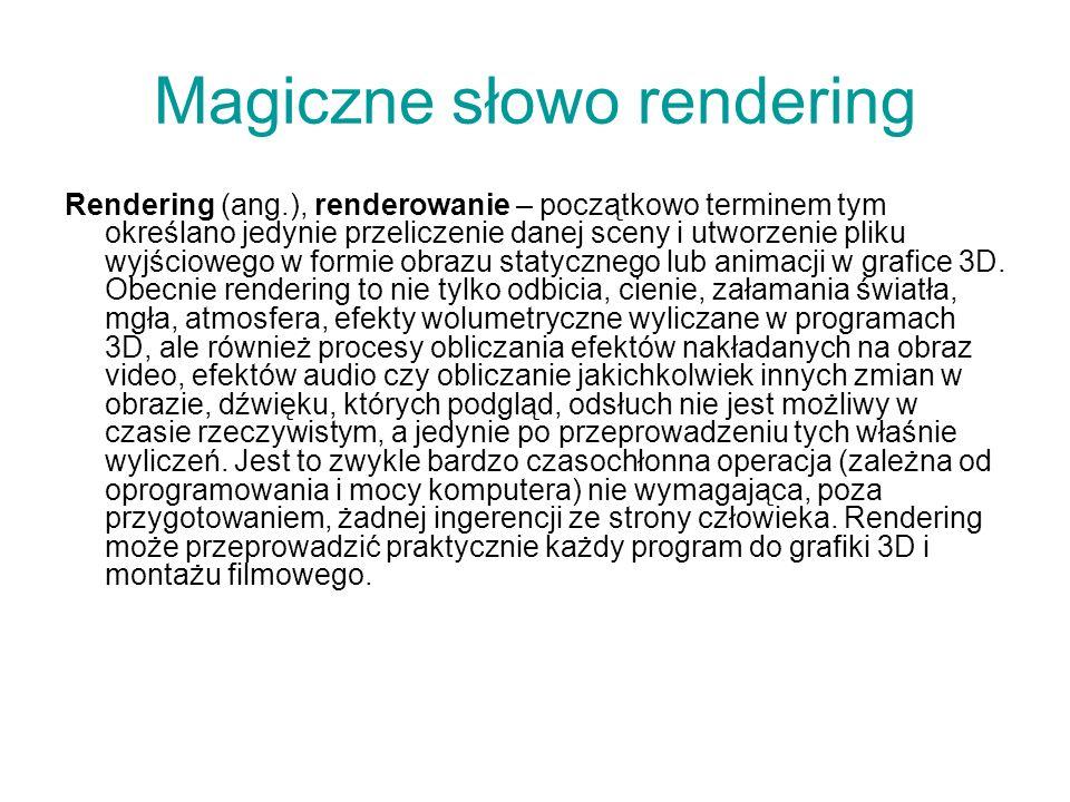 Magiczne słowo rendering