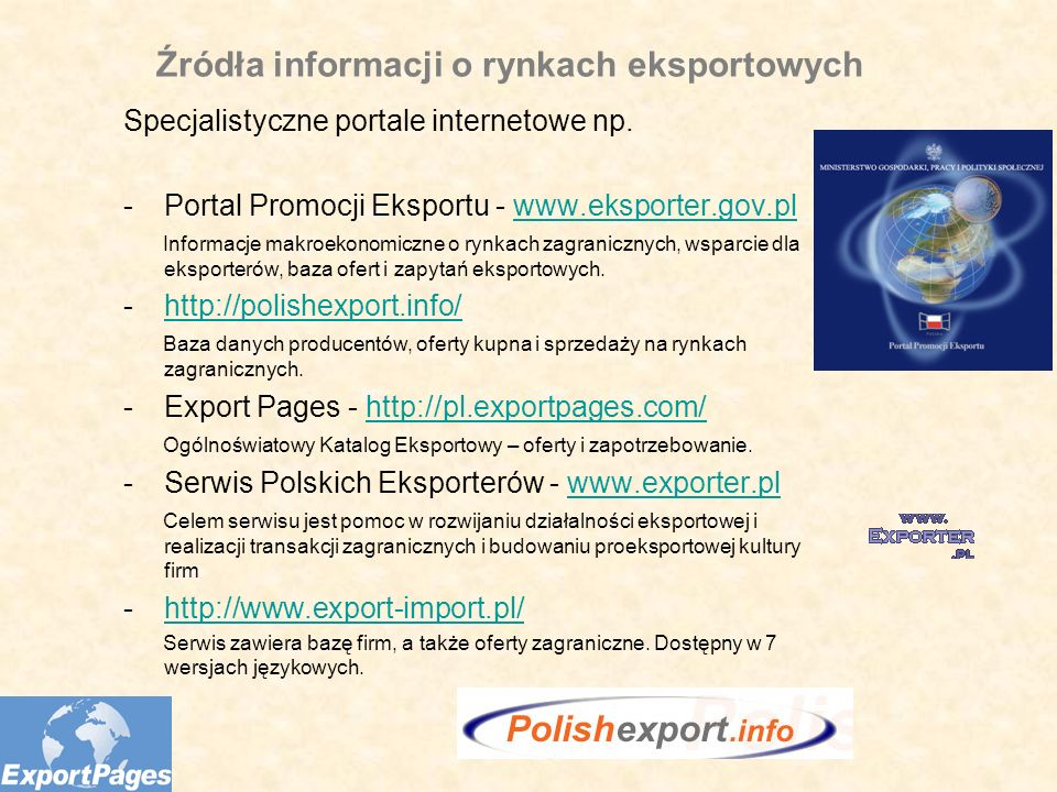 Źródła informacji o rynkach eksportowych