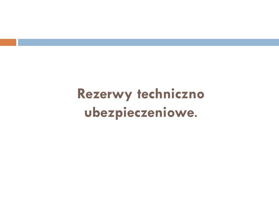 Rezerwy techniczno ubezpieczeniowe.