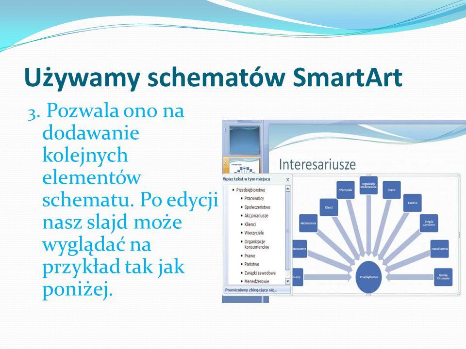 Używamy schematów SmartArt