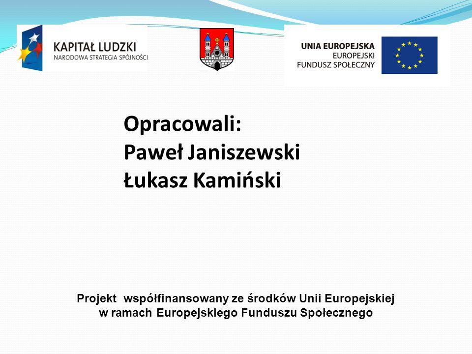 Opracowali: Paweł Janiszewski Łukasz Kamiński