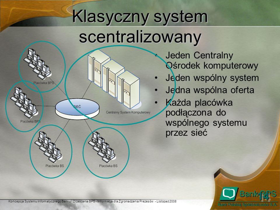 Klasyczny system scentralizowany