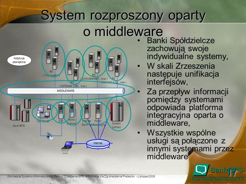System rozproszony oparty o middleware