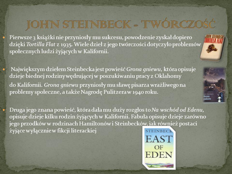 JOHN STEINBECK - TWÓRCZOŚĆ