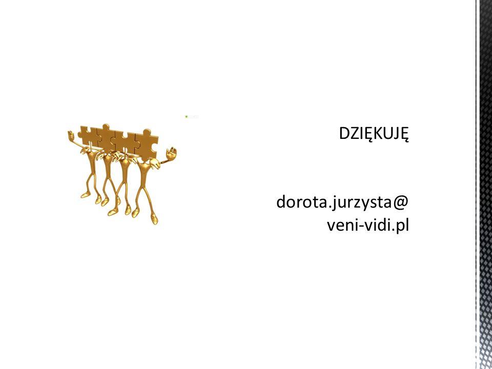 DZIĘKUJĘ dorota.jurzysta@veni-vidi.pl