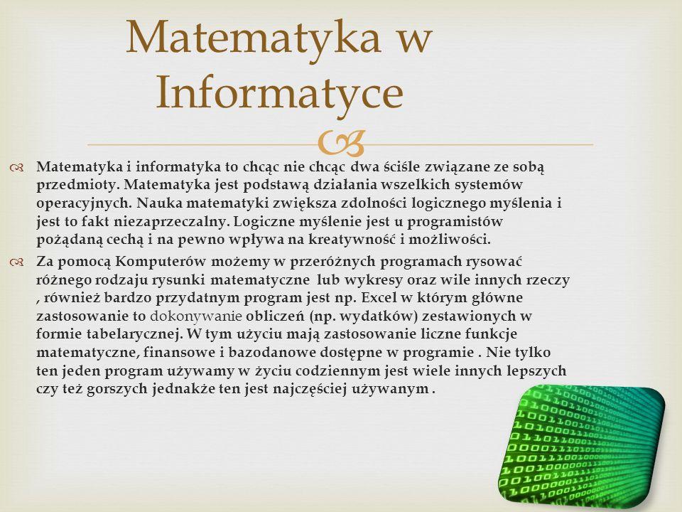 Matematyka w Informatyce