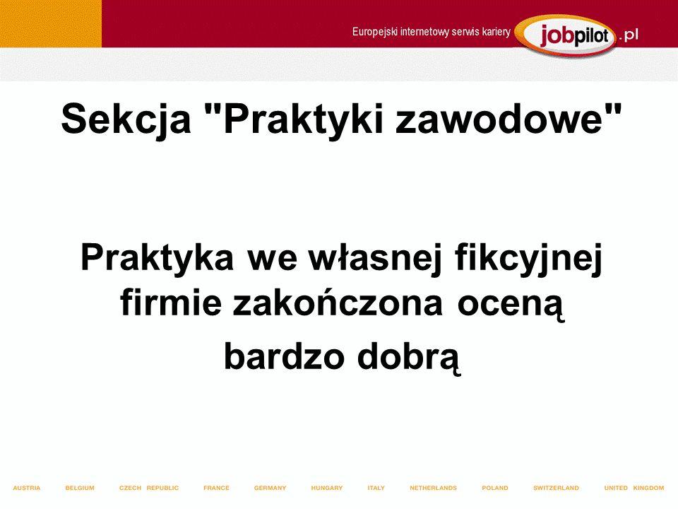 Sekcja Praktyki zawodowe